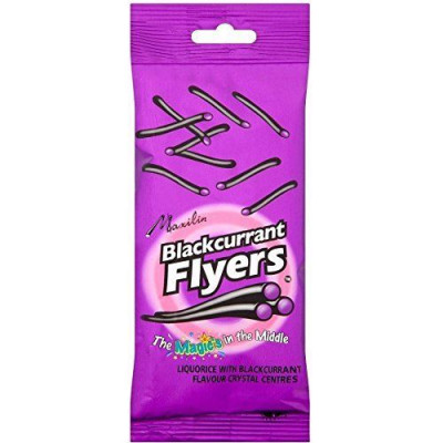 Liquorice Flyers With Blackcurrant Centre - 12 x 90gm Pack