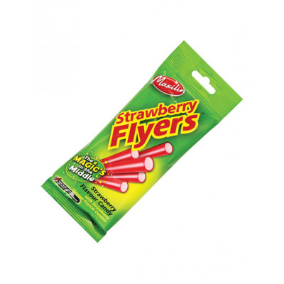Liquorice Flyers With Strawberry Centre - 12 x 90gm Pack