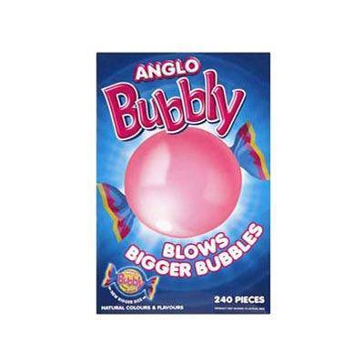Anglo Bubbly Bubble Gum - 240 Pack