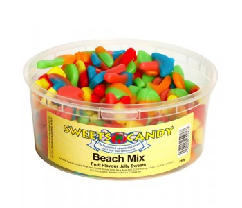 Beach Mix Fruit Flavour Jellies - 750g Tub