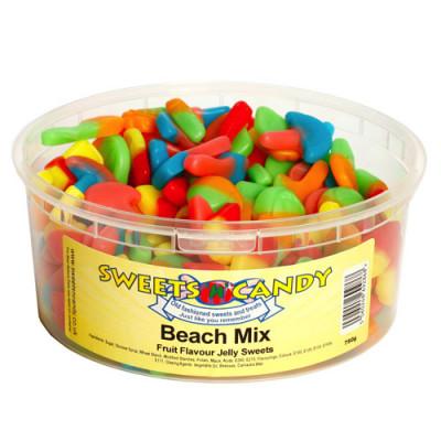 Beach Mix Fruit Flavour Jellies - 750g Tub