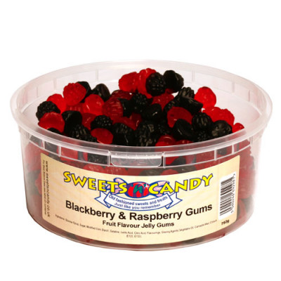 Blackberry and Raspberry Fruit Flavour Gums - 750g Tub