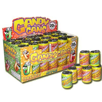 Candy Cans Sherbet Filled Cans - 36 Pack