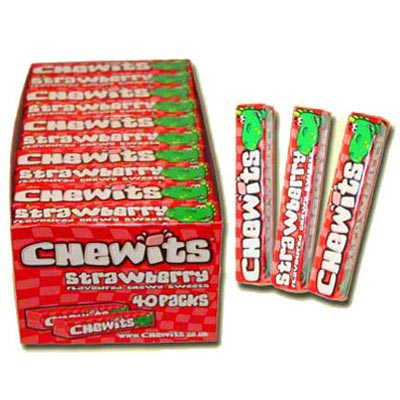 Chewits Strawberry Flavoured Sweets - 40 Pack