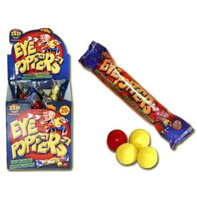 Mega Sour Eyepoppers Bubblegum - 45 Pack