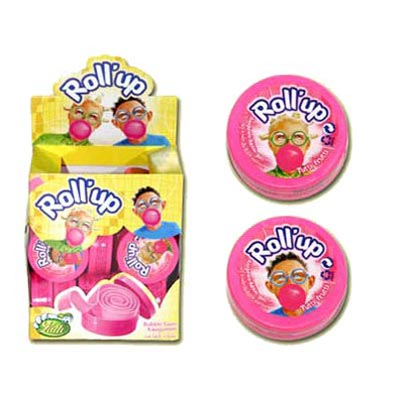 Roll Up Bubble Gum - 24 Pack