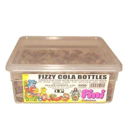 Fizzy Cola Bottles - 600 Pack