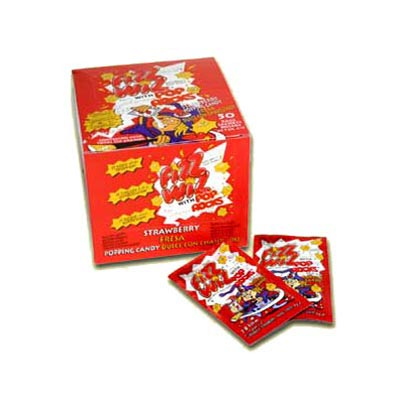 Fizz Wiz Popping Candy (Space Dust) Strawberry Flavour - 50 Pack