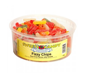 Fizzy Chips Sour Fruit Flavour Jellies - 750g Tub