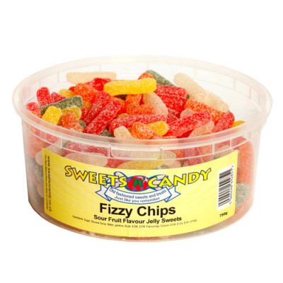 Fizzy Chips Sour Fruit Flavour Jellies - 750g Tub