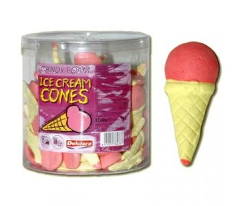 Candy Foam Ice Cream Cones - 75 Pack