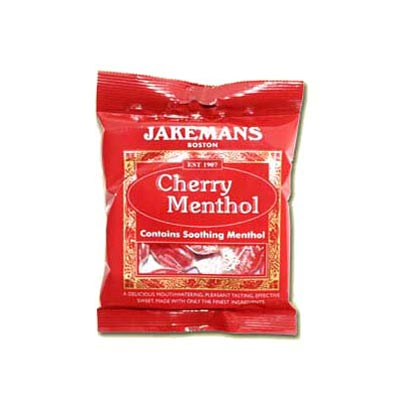 Jakemans Cherry Menthol Throat Sweets - 10 Pack