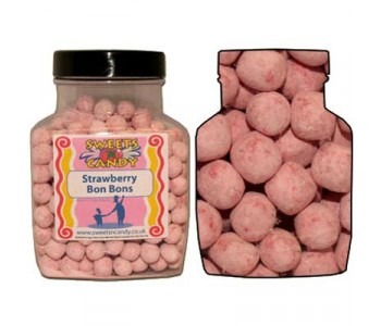 A Jar of Strawberry Bon Bons - 1.5Kg Jar