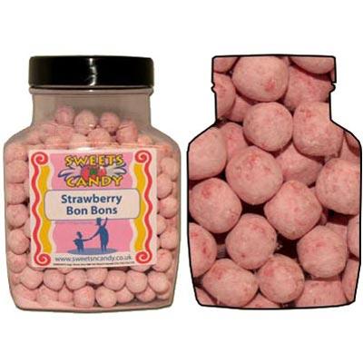 A Jar of Strawberry Bon Bons - 1.5Kg Jar