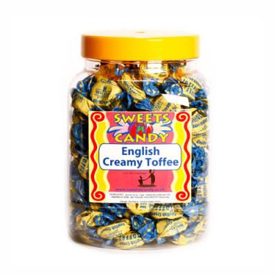 A Jar of Walkers English Creamy Toffees - 1.2Kg Jar