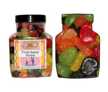 A Jar of Fruit Salad Gums - 2 Kg Jar