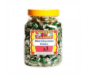 A Jar of Walkers Mint Chocolate Eclairs - 1.2Kg Jar