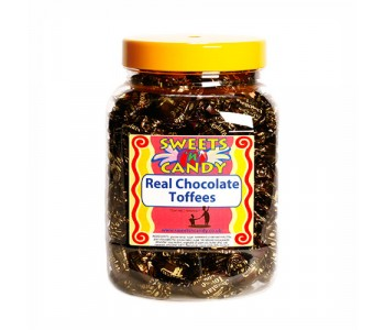 A Jar of Walkers Traditional Chocolate Toffees - 1.2Kg Jar