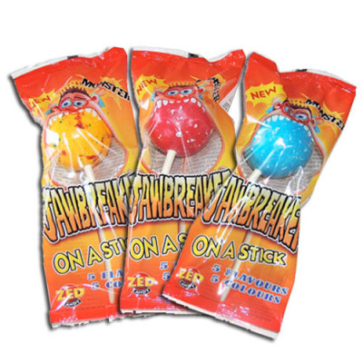 Monster Jawbreakers Giant Gobstoppers on a Stick - 18 Pack