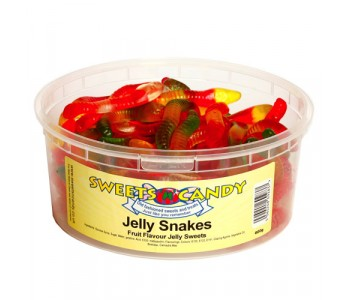 Jelly Snakes - 600g Tub