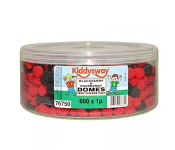 Blackberry And Raspberry Jelly Domes - 600 Pack