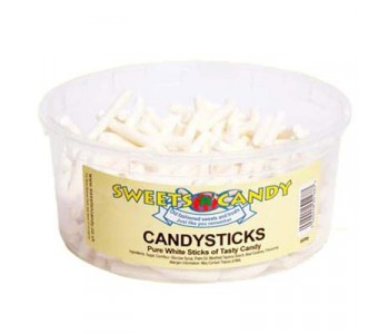 Candysticks Pure White Candy - 1.5Ltr Tub (500g)