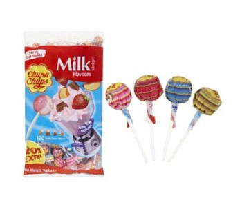 Chupa Chups best of Milk and fruit Flavours Lollipops - 120 Refill Pack