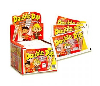 Double Dip Lollies Orange and Cherry Flavour - 36 Pack