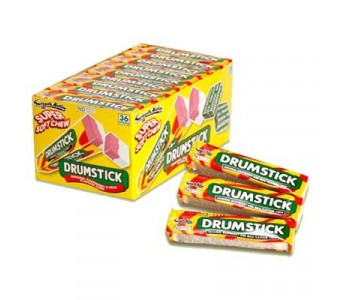 Drumstick Super Soft Chews Raspberry and Milk Flavour - 36 Pack