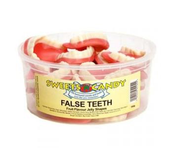 Jelly Fruit Flavour False Teeth - 1.5Ltr Tub - 750g