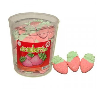 Candy Foam Strawberries - 75 Pack