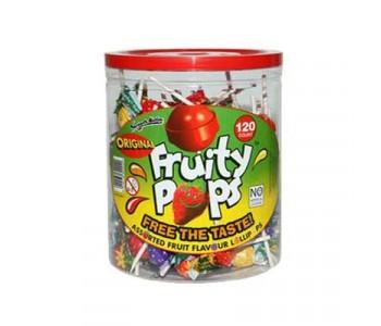 Swizzels Fruity Pops Fruit Flavour Lollipops - 120 Pack
