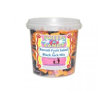 Barratt Fruit Salad And Black Jack Mix - 600g Tub