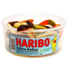 Haribo Giant Yellow Belly Snakes - 1.5Ltr  Tub- Approx 10 Snakes