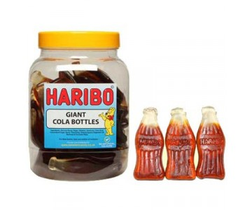Haribo Giant Cola Bottles - 1.5kg Jar