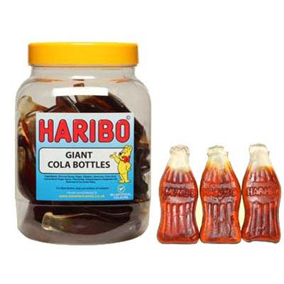Haribo Giant Cola Bottles - 1.5kg Jar