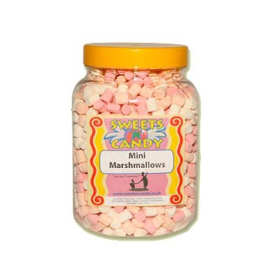 A Jar of Mini Marshmallows - 0.5Kg Jar