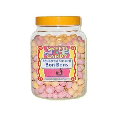 A Jar of Rhubarb And Custard Bon Bons - 1.5Kg Jar
