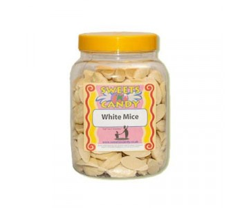 A Jar of White Chocolate Mice - 1.5 Kg