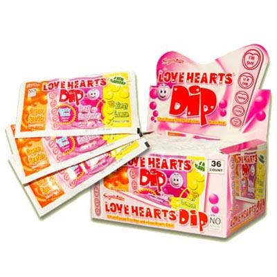 Love Hearts Sherbet Dips - 36 Pack