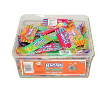 Maoam Stripes Fruit Flavoured Chews - 120 Pack