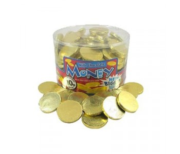 Gold Coins Milk Chocolate Money 120 Pack