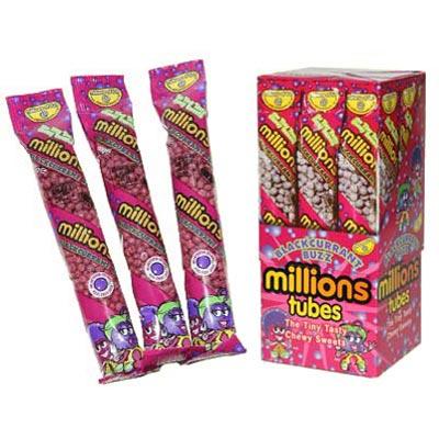 Millions Tubes Blackcurrant Buzz Flavour - 12 Pack