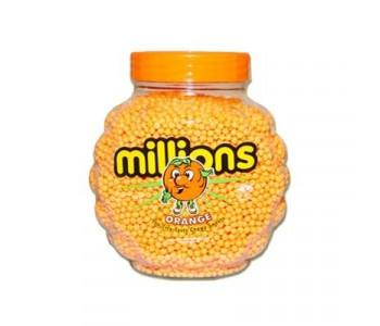 Millions- Orange Flavour Chewy Sweets - 2.27 Kg Jar