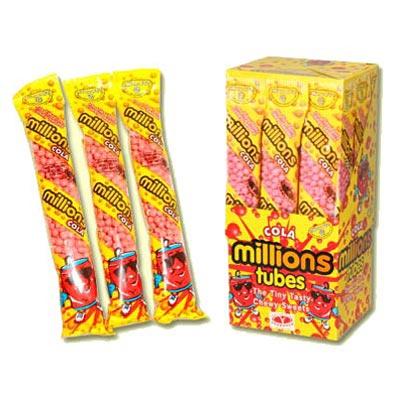 Millions Tubes Cola Flavour - 12 Pack