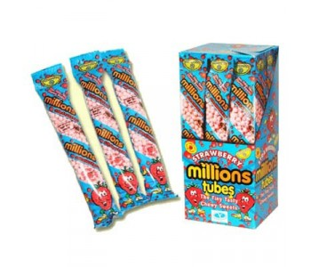 Millions Tubes Strawberry Flavour - 12 Pack
