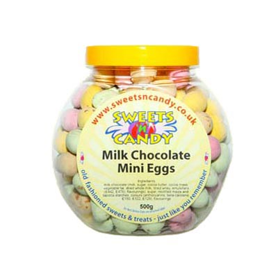 Milk Chocolate Candy Coated Mini Eggs - 500g Jar