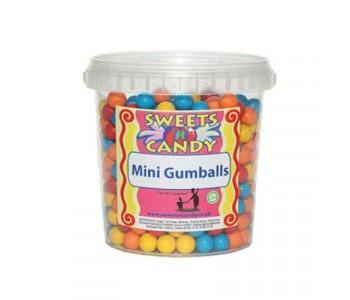 Mini Gumballs Chewing Gum - 750g Tub