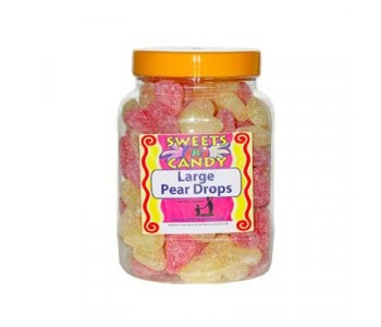 Pear Drops (Large) Old fashioned Sweets in a Jar - 2Kg jar