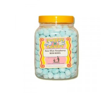 A Jar of Sour Raspberry Flavoured Bon Bons - 1.5Kg Jar